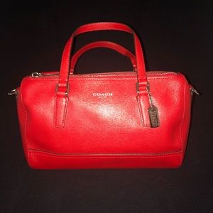 Red Leather Coach Mini Purse